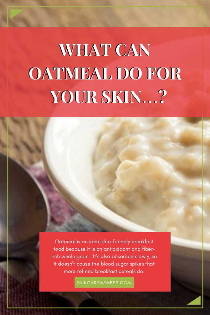 Oatmeal is great for your body and your skin. Read about the benefits of fiber-rich and antioxidant whole grains that create wonders for your body.